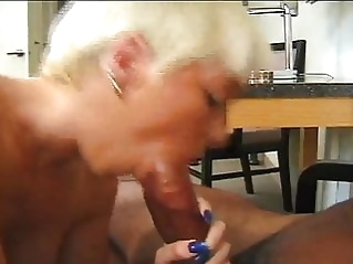 CJ gets stomach muscles stretched blonde