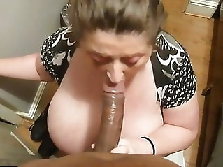 British BBW Sucking cock bbw