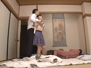 Housewife Yuu Kawakami Fucked Hard While Another Man Watches japanese