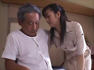 japanese wife widow takes care of father in law 2 mature