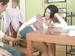 Cute Virgin Sister First Deep Anal Fuck by Big Cock Step Bro hardcore